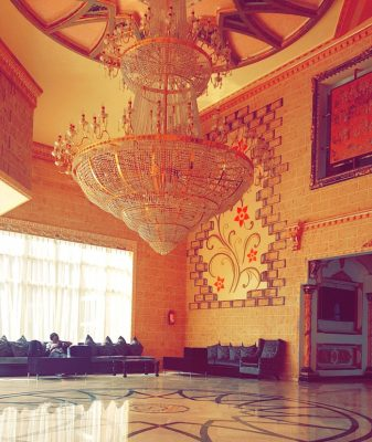 Chandelier AT SANDRALIA HOTEL ABUJA
