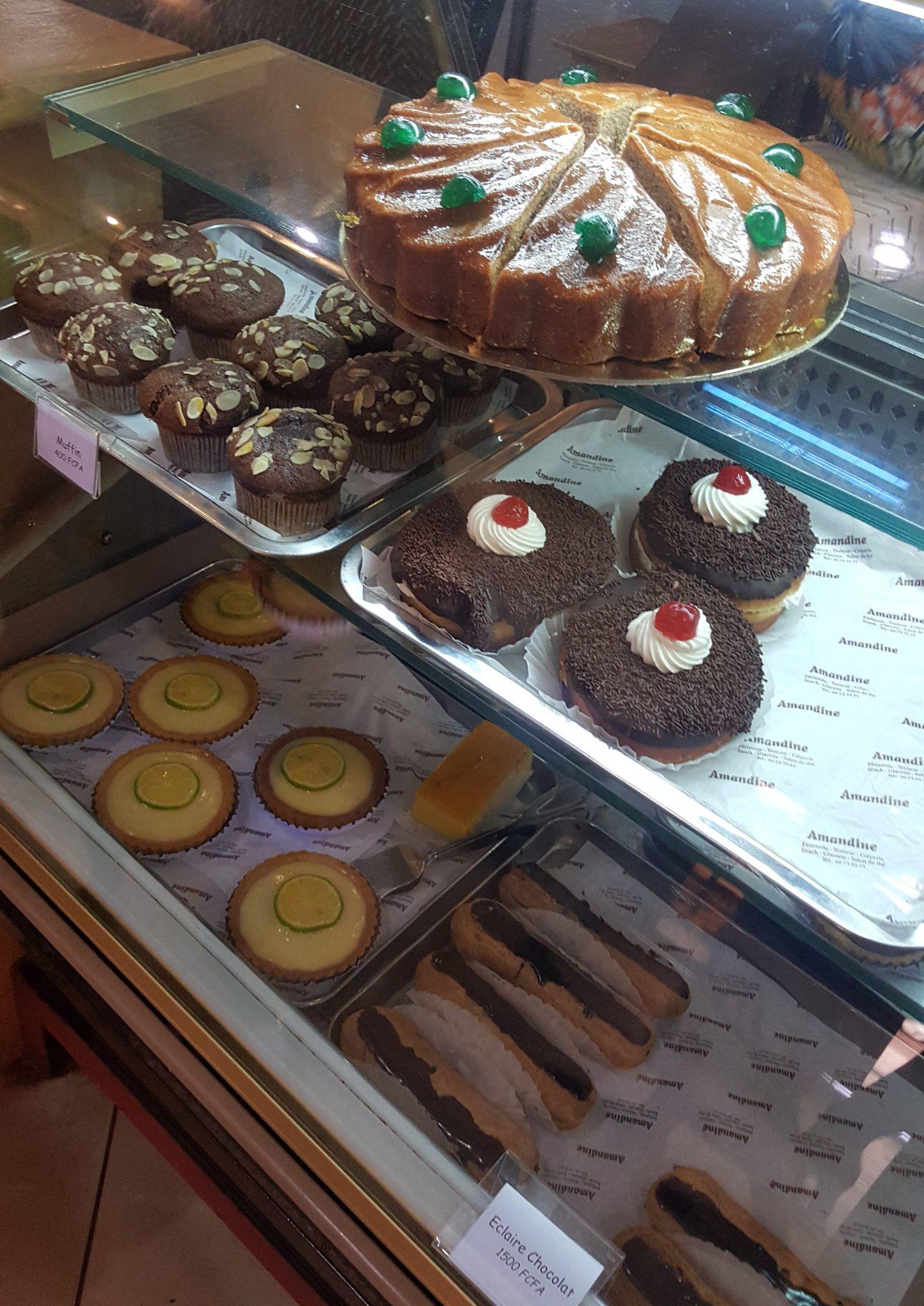at the dessert Shop